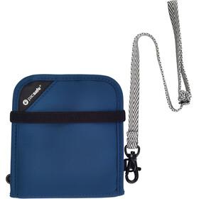 Pacsafe RFIDsafe V100 portemonnee blauw